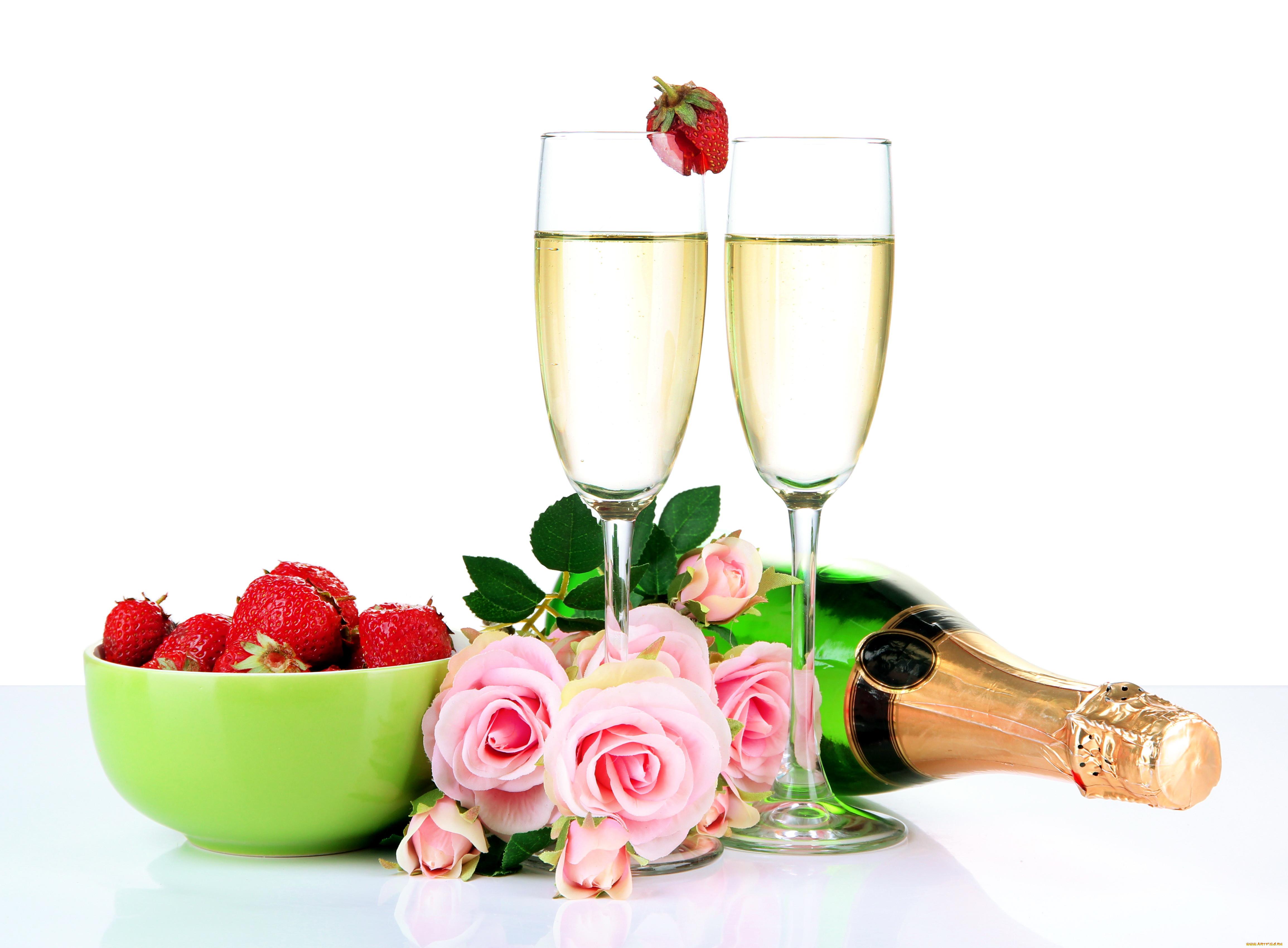 открытки с шампанским и фруктами документы